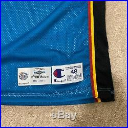 Grant Hill Detroit Pistons Champion Jersey Game Issued Size 48 Length +4 Pro Cut