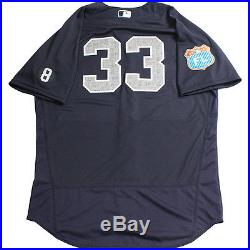 Greg Bird New York Yankees 2016 Spring Training Game Issued #33 Road Jersey