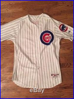 Greg Maddux Game Used Signed Chicago Cubs Home pinstripe Jersey Issued Worn