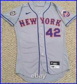 HAMILTON #42 2020 JACKIE ROBINSON Mets game used jersey issue road gray MLB HOLO