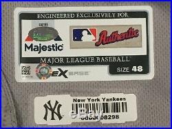 HOLDER #65 sz 48 2017 Yankees Game Jersey issue JULY 4 STARS STRIPES MLB STEINER