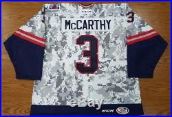 Hartford Wolf Pack Chris McCarthy Game-Issued 2015-16 Military Jersey withCOA