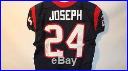 Houston Texans Signed Authentic Game Issued Jersey-Johnathan Joseph