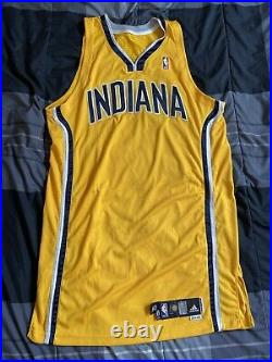 Indiana Pacers Vintage 2009-10 Team Game Issued Blank Jersey Adidas 50 Authentic