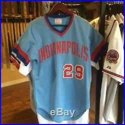 Indianapolis Indians (Expos) Game Worn/Used/Issued Jersey