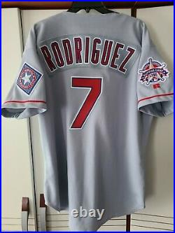 Ivan Rodriguez 1995 Texas Rangers Authentic Team Issued Game Jersey Size 48