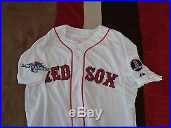 Jacoby Ellsbury Team Game Issued Un Worn 2013 Boston Red Sox Jersey World Series