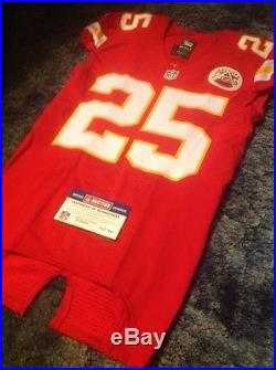 Jamaal Charles Kc Cheifs Game Used Worn Issued Signed Auto Jersey 2015 NFL Coa