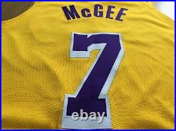 JAVALE MCGEE Los Angeles Lakers nike pro cut game issued jersey kobe authentic