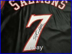 JOHN SALMONS Philadelphia 76ers Reebok pro cut game issued authentic jersey 48+4