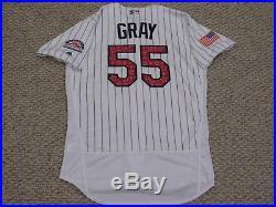 JON GRAY sz 48 #35 2018 Colorado Rockies July 4th GAME jersey issued MLB HOLO