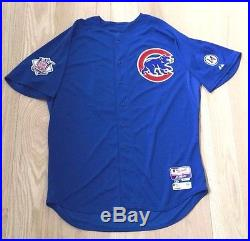 Jon Lester Autographed 2015 Game Issued Used Worn Chicago Cubs Blue Jersey 2016