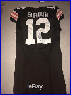 JOSH GORDON Game ISSUED signed Browns PSA/DNA verified free shipping with COA