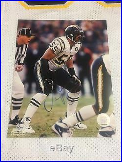 JUNIOR SEAU San Diego Chargers Autographed Game Issued Jersey & Photo WithCOA