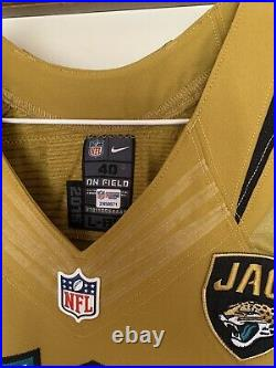 Jacksonville Jaguars Game Issued Color Rush Jersey sz 40 WithCOA