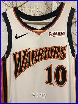 Jacob Evans III Golden State Warriors We Believe Game Issued Worn Jersey. Curry