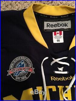 Jacob Trouba Game Worn Michigan Hockey Jersey New York Rangers Used Issued