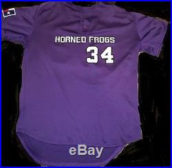 Jake Arrieta #34 GAME ISSUED TCU Alumni Game Jersey Chicago Cubs RARE FIND