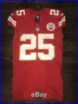 Jamaal Charles signed Game Issued pro-cut Jersey not worn not used autograph
