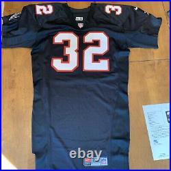 Jamal Anderson Signed Autographed Game / Team Issued Falcons Jersey JSA Read