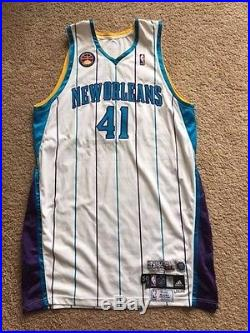 James Posey game issued jersey European game Hornets un-worn pro cut Meigray MGG
