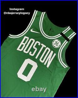 Jayson Tatum Celtics Game Issued Jersey Social Message Bubble Worn Used Nba 46+4