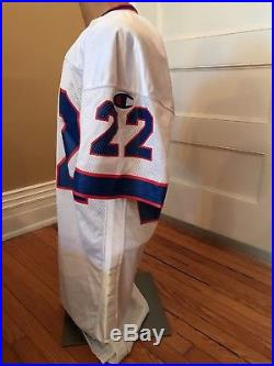 Jeff Burris Game Worn Used Issued Autographed Buffalo Bills Champion Away Jersey