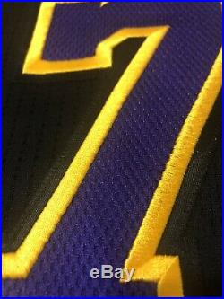 Jeremy Lin Los Angeles Lakers Hollywood Nights Pro Cut Jersey. Game Worn Issued