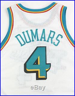 Joe Dumars 1997-98 Detroit Pistons Team Game Issued Team Pro Cut Jersey Bad Boys