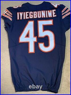Joel Iyiegbuniwe Chicago Bears 2017 Nike Game Worn Used Issued NFL Jersey 44 WOW