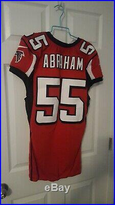 John ABRAHAM authentic game Issued Atlanta Falcons Jersey
