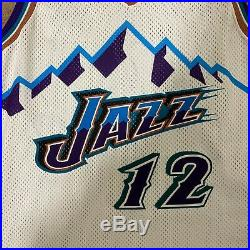 John Stockton Utah Jazz Champion Jersey Game Issued Size 42 L+2 Big Mountain