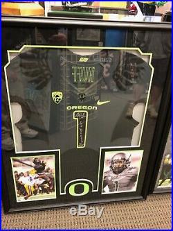 Josh Huff Game worn Oregon Duck Volt Jersey signed Team Issue