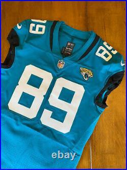 Josh Oliver Game / Team Issued Jacksonville Jaguars Jersey 2020
