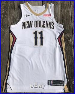 Jrue Holiday New Orleans Pelicans Game Worn Used Issued Autograph PSA Jersey