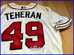 Julio Teheran Game Team Issued Jersey Atlanta Braves IVORY MLB HOLOGRAM AUTH