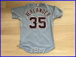 Justin Verlander 2012 Game Issued Team Jersey Detroit Tigers Shows Use Auto