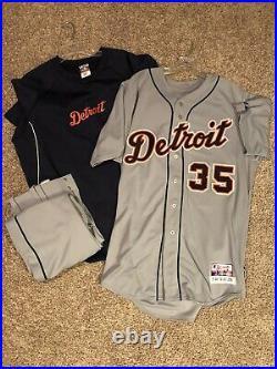 Justin Verlander Detroit Tigers Game Issued Jersey, Pants Sweatshirt