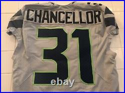Kan Chancellor Team Issued Pro Cut Seattle Seahawks Game Jersey Game Worn Used