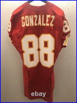 Kansas City Chiefs Game Issued Game Cut Jersey 2002 TONY GONZALEZ
