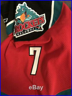 Kelowna Rockets Game Worn/ Team Issue Jersey WHL CHL