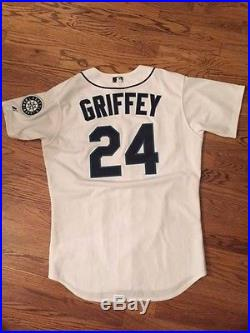 Ken Griffey Jr. Game Used Seattle Mariners Team Issued Jersey Worn
