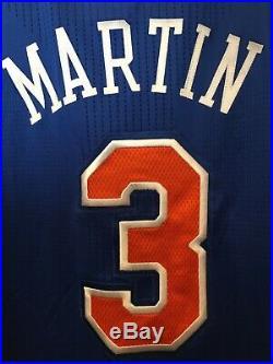 Kenyon Martin New York Knicks Team Game Issued Pro Cut Jersey Mesh Adidas Rev 30