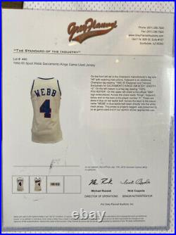 Kings Spud Webb Pro Cut Champion Game Jersey COA Vintage NBA Issued Used Worn