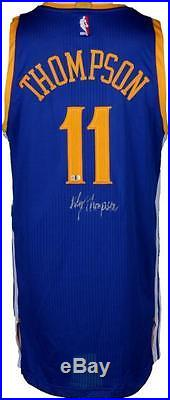 Klay Thompson Golden State Warriors Autographed Game-Issued Jersey Item#6782160
