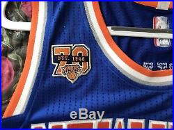 Knicks Carmelo Anthony Team Issued 2016-17 Pro Cut Game Jersey 70th Adidas Rev30