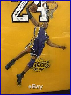 Kobe Bryant Game Cut Issued Signed Jersey UDA With Rare Artist Portrait 3/6 LE