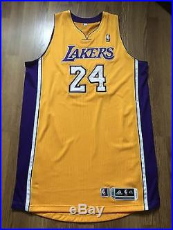 Kobe Bryant Game Issued Los Angeles Lakers Jersey Adidas NBA