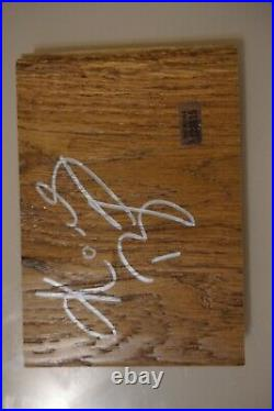 Kobe Bryant Los Angeles Lakers Autographed Plank With COA. Game Worn. Issued