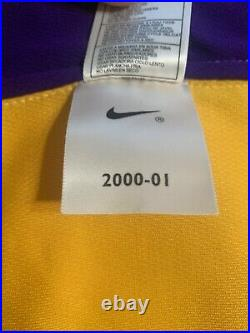 Kobe Bryant Signed 2000-01 Game Issued Los Angeles Lakers Jersey Beckett & PSA